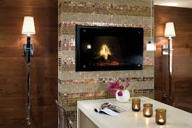 glass tile fireplace designs white