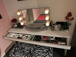best of lighted vanity table with mirror and bench light up for girls makeup designs 2