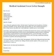 free medical assistant cover letter samples free medical cover letter example of medical assistant cover letter