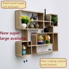 wooden wall shelves wood shelf diy wall decoration creative rack