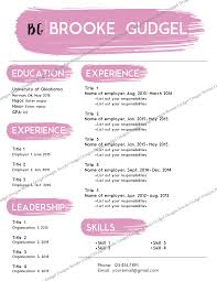 ... Classy Design Gmail Resume 5 Blush Resume Contact Brookegudgelgmailcom Sorority  Rush ...