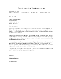Thank You Notes After Interview Find Your Sample Resume