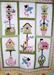 Birdhouse quilt Quilt by joobee from the quiltingboard.com ... & Birdhouse quilt Quilt by joobee from the quiltingboard.com. Adamdwight.com