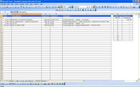 Credit Card Tracker Excel Sample Spreadsheet For Monthly Expenses Excel Templates