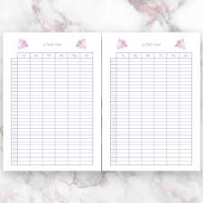 Month Flowers Chart Pastel Pink Flowers Printables Wool Dreams