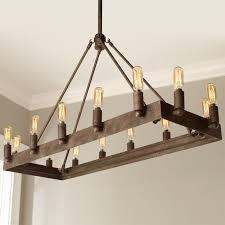urban loft industrial rectangular chandelier shades of light