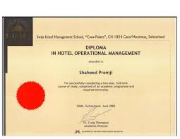 diploma in hotel operations management