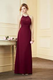 Alfred Angelo Colour Chart Alfred Angelo 7290l Halter Long Bridesmaid Dress