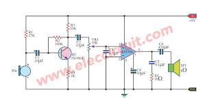 here is a schematic diagram of electret microphone preamplifier here is the dynamic microphone amplifier circuit diagram this here is a schematic diagram of electret microphone preamplifier using