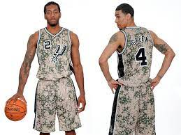 Then again, the san antonio spurs have always been about the jerseys will debut at the team's home opener on nov. Spurs Unveil Awful Camouflage Alternate Jerseys For The Win