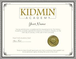 our program kidmin academy earn a diploma in children s ministry from kidmin academy the kidmin academy diploma program is designed to educate and empower those who minister to