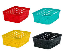 View in gallery Vibrant storage baskets
