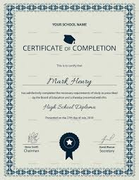 High School Diploma Certificate Fancy Design Templates Certificate School Magdalene Project Org