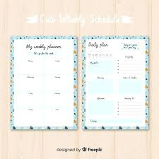 Weekly Planner Template Word Weekly Planner Template Icojudge Co