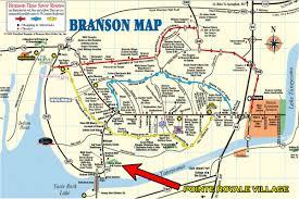 maps update  branson tourist map – the bluffs luxury