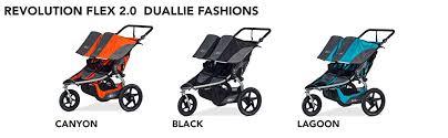 Bob Revolution Flex Duallie 2 0 Jogging Stroller Up To 100 Pounds Upf 50 Canopy Adjustable Handlebar Black