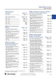 Allen Bradley Motor Starter Size Chart Nema Motor Control A116 North American Ic Catalog