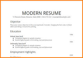 Resume Format Career Objective Resume Template Career Objective