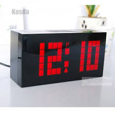 digital large jumbo led snooze wall desk alarm calendar home modern clock digital office clocks49 clocks