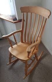 large wooden rocking chair 50