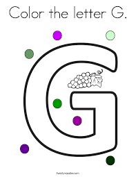 letter g letter g coloring pages twisty noodle