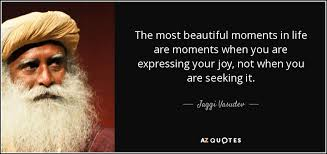 Beautiful Moments In Life Quotes Best Of Jaggi Vasudev Quote The Most Beautiful Moments In Life Are Moments