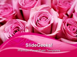 Pink Roses Beauty Powerpoint Templates And Powerpoint Backgrounds