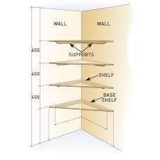 diy handyman install floating corner shelves diagram