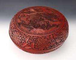 a large chinese qing dynasty lacquerware lidded box qianlong mark