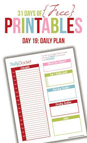 Custom Daily Planner Daily Planner Printable Day 19 I Heart Planners