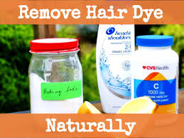 how to naturally remove hair dye with