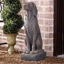 dog garden statues dog statue decor