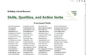 Sales Resume Action Words