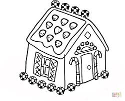 Christmas Coloring Page Gingerbread House Present Creativeinfotech