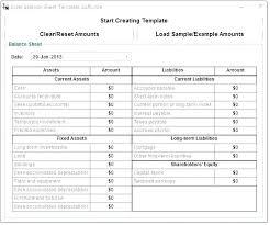 Income Balance Sheet Template