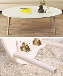 2021 oval modern coffee table