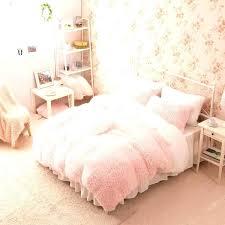 pink and white bedding sets excellent girls cashmere wool velvet ruffle duvet cover blush comforter set