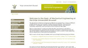 Access Mech Vub Ac Be Welcome To The Dept Of Mechanical