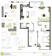 kitchen furniture plans. Vector Flat Projection With Furniture Set Scale Stock Kitchen Furniture Plans O