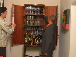 wall mounted liquor cabinets for small