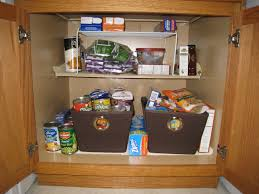pantry organize cloth bins storage
