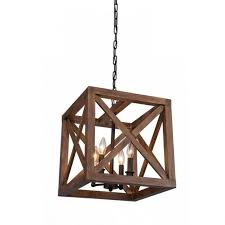 why light your room with the farmhouse walnut collingwood ceiling light