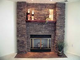 excellent fireplace remodel stone veneer over brick home improvements inside stone veneer over brick fireplace attractive