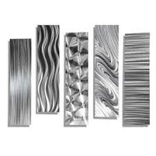>shop metal art discover our best deals at overstock  statements2000 set of 5 silver metal wall art accents by jon allen 5 easy pieces
