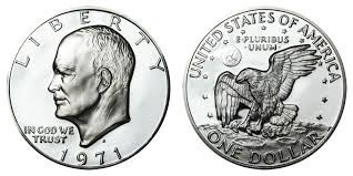 1971 S Eisenhower Dollar Silver Clad Coin Value Prices