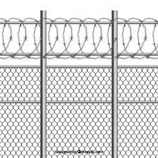 fence. Silver Metal Fence With Barbed Wire