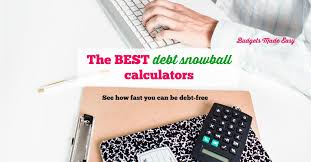 debt snowball calculator free the best debt snowball calculators budgets made easy