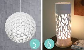 Create a 3D modern light shade out of the simplest things that you can buy  online or in your nearest supermarket and homewares store. via Cutoutandkeep