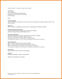 High School Resume Objective Examples Resume Objective Examples For High School Students Shalomhouseus 11