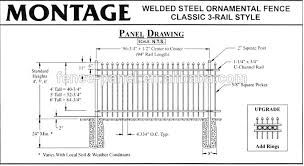 picket fence drawing. 3. Steel Picket Fence Installation Drawing